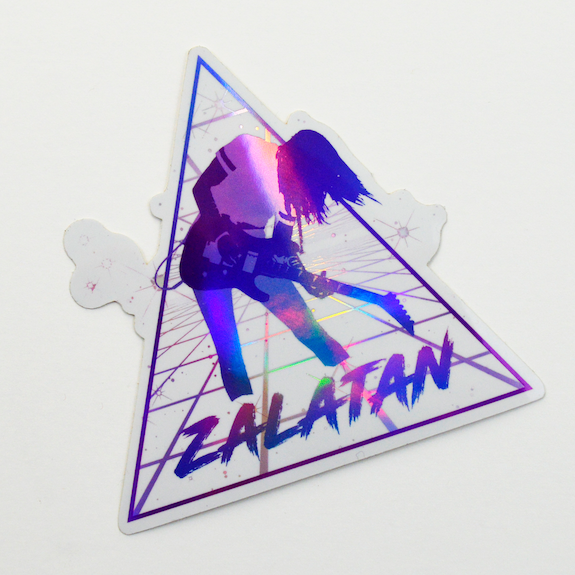Zalatan Holo White Sticker